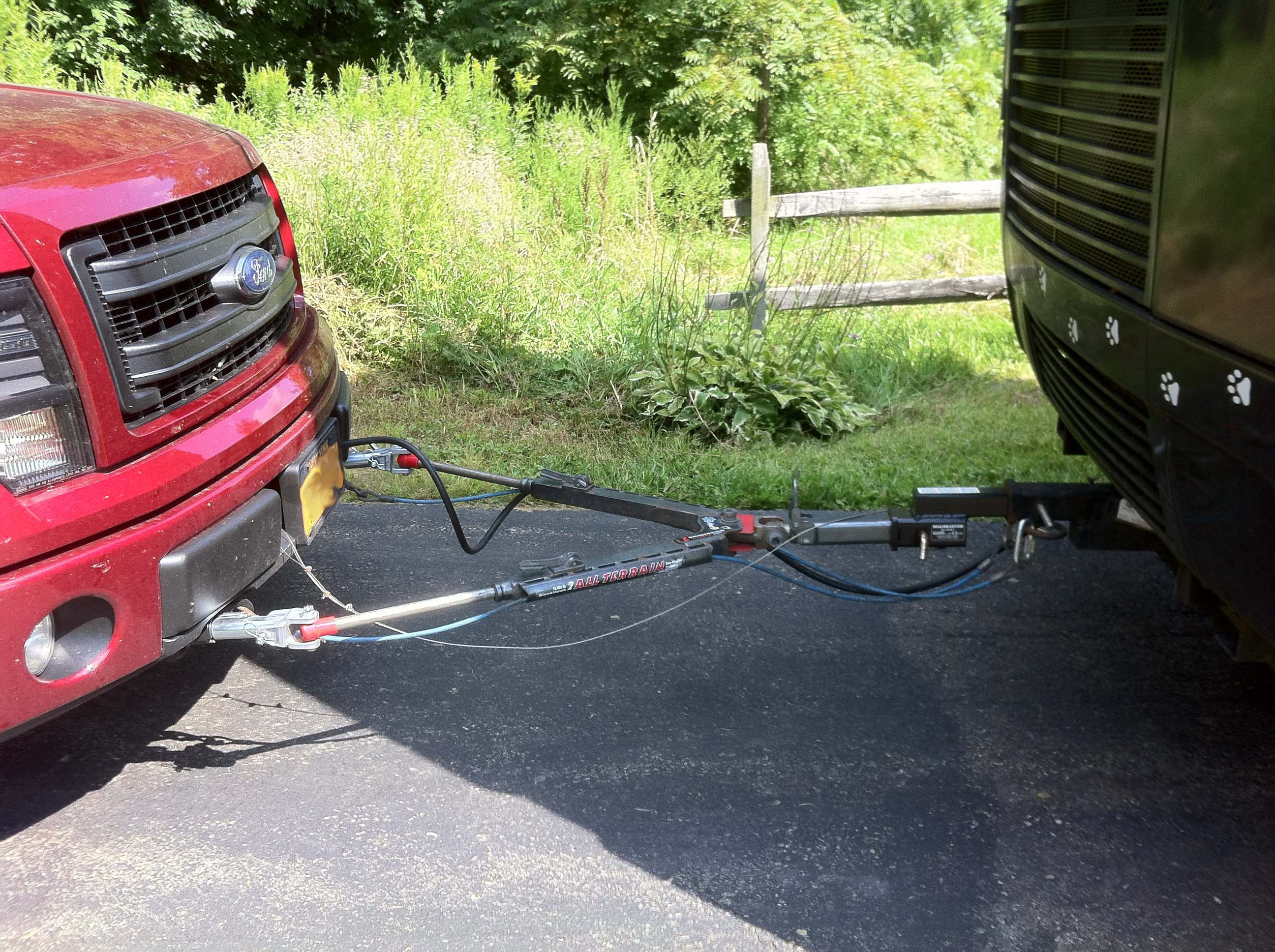 Setting up to flat tow f 150 behind a motorhome ford f150 forum click to enlarge sciox Gallery