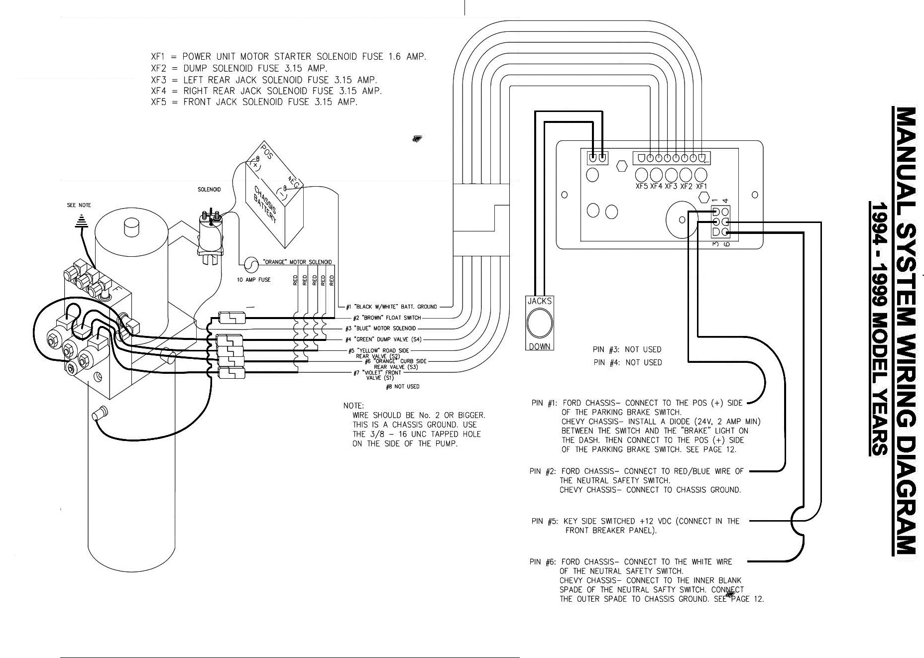 new schematicBW help!!! i have a wiring problem with a power gear control pad on a fleetwood rv wiring diagram at bakdesigns.co